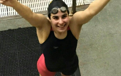 Larissa Lamarca breaks school swimming record