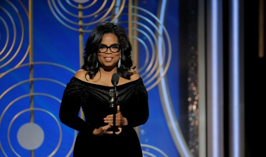 Was Winfrey's Golden Globe speech the beginning of her campagin?